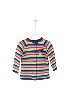 Silversun Kids Çizgili Ponpon Detaylı Bebek Kız Hırka T 114917